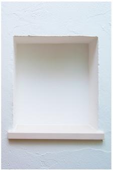 漆喰の飾り棚